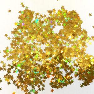 глиттер золотые звёздочки