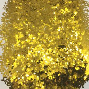 глиттер золотые шестигранники